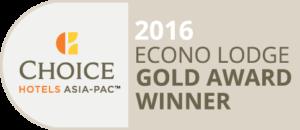 Econo Lodge Gold Award Winner 2016