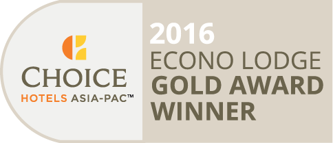 Choice Econo Lodge Gold Award Winner 2016