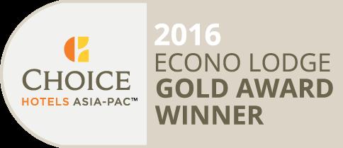 Choice Econo Lodge Gold Award Winner 2016