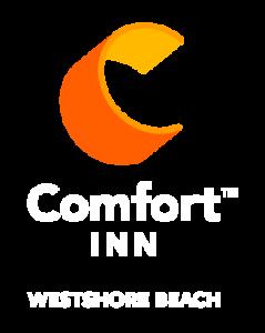 Comfort Inn Westshore Beach Inn Logo - white