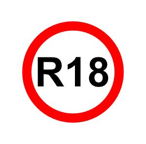 R18 Sign